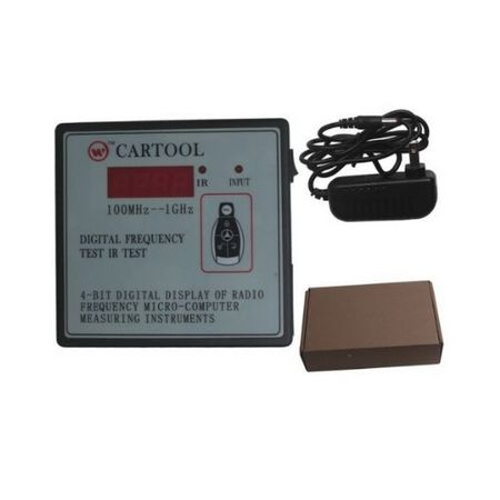 100MHz-1GHz CARTOOL Car IR Infrared Remote Key Frequency Tester