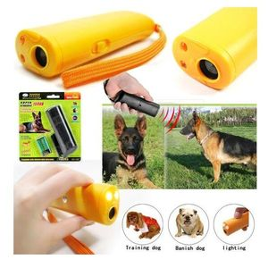 With LED 3 in 1 Anti Barking Stop Bark Ultrasonic Pet Dog Repeller