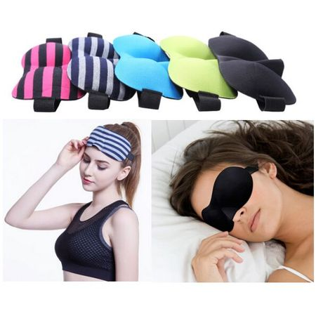 3D Portable Soft Travel Sleep Rest Aid Eye Mask